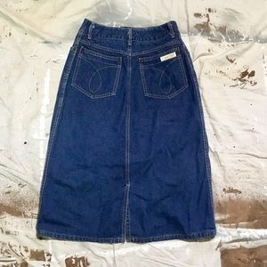 Iconic vintage 70s 80s Calvin Klein denim skirt